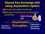 shared key exchange with using asymmetric ciphers1