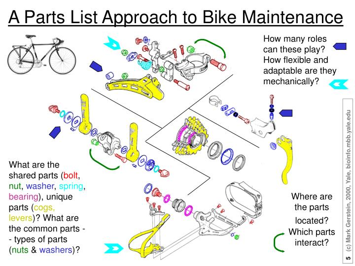 A Parts List Approach to Bike Maintenance