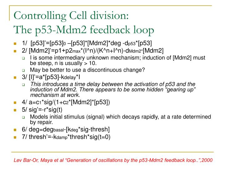 Controlling Cell division: