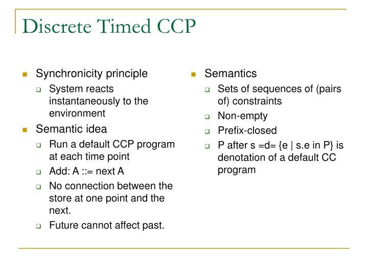 Synchronicity principle