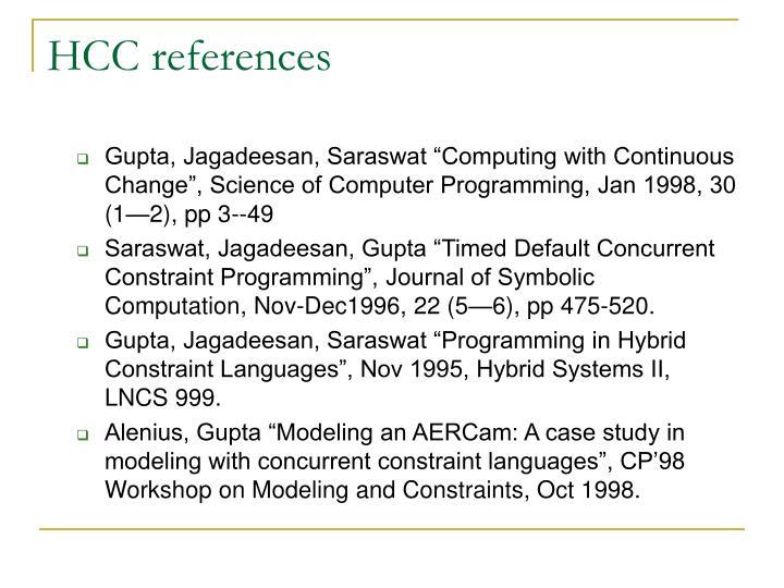 HCC references