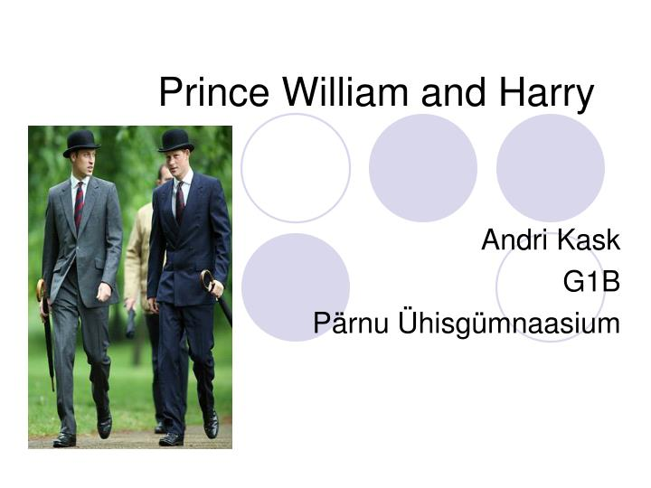 prince william and harry n.