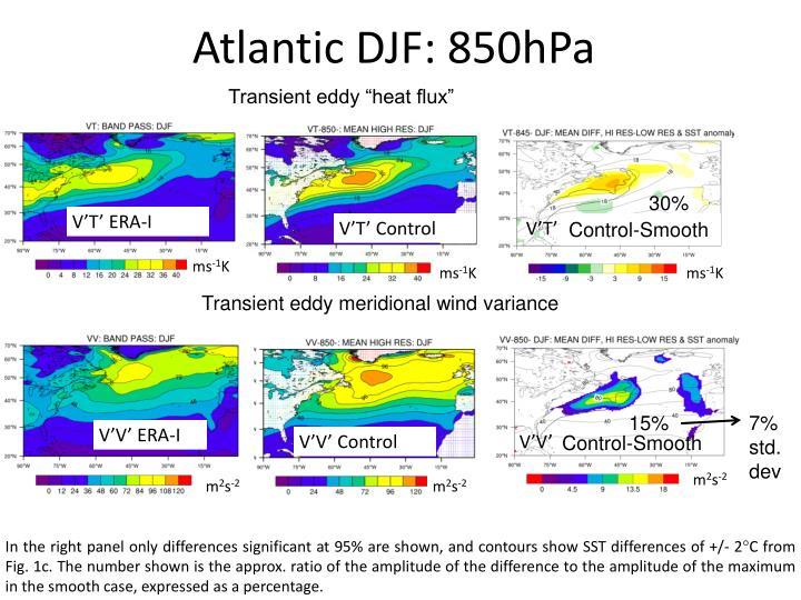 Atlantic DJF: 850hPa