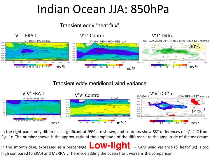Indian Ocean JJA: 850hPa