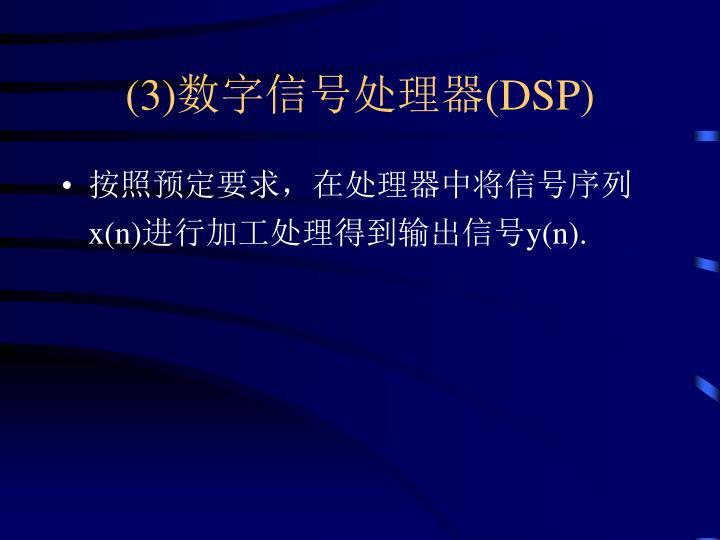 (3)数字信号处理器(