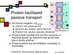 protein facilitated passive transport
