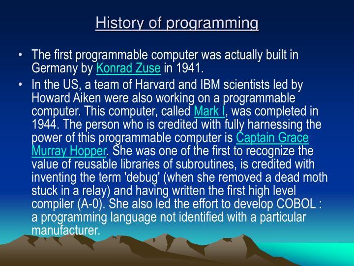 History of programming