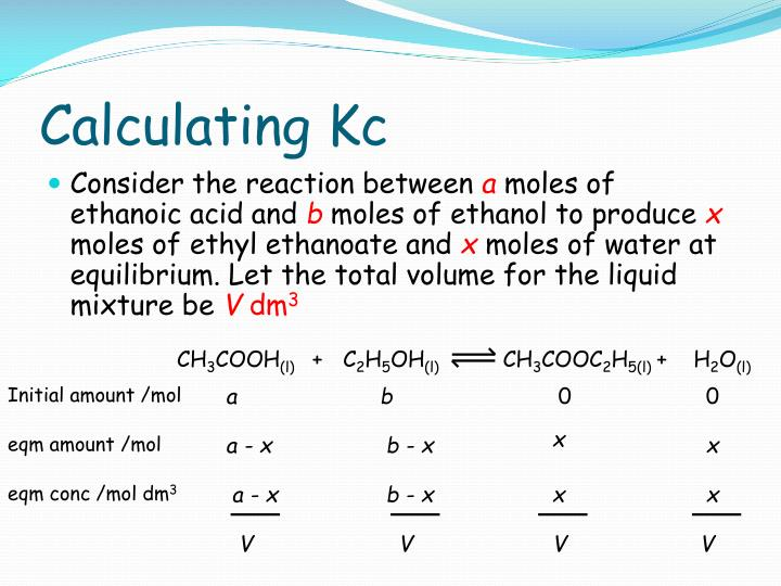 Calculating Kc