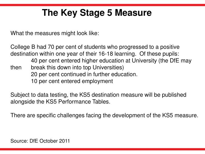 The Key Stage 5 Measure