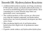 smooth er hydroxylation reactions3