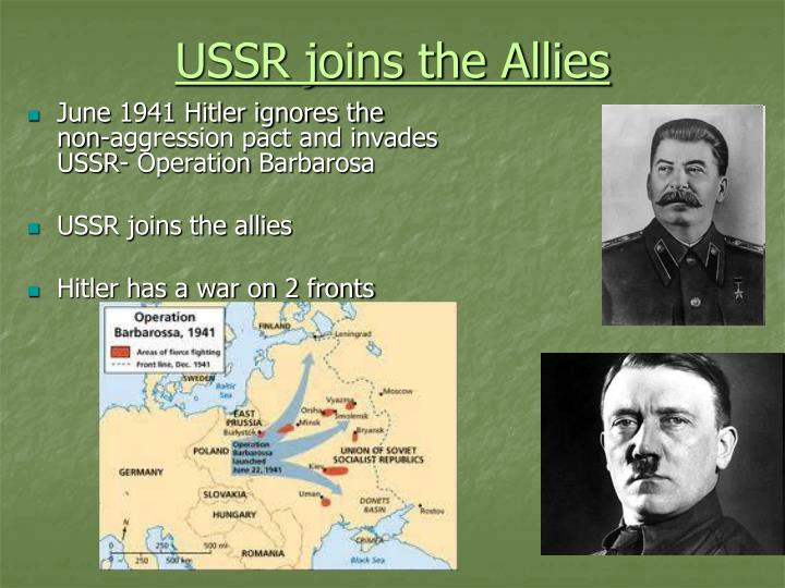 USSR joins the Allies