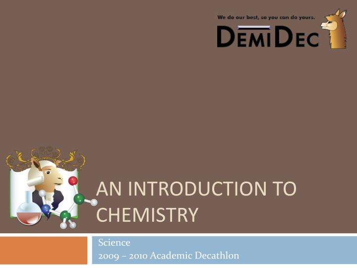 an introduction to chemistry n.
