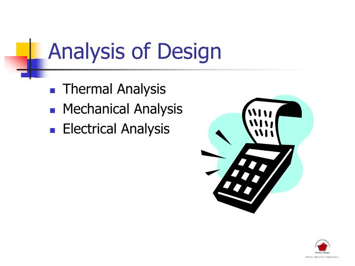 Analysis of Design