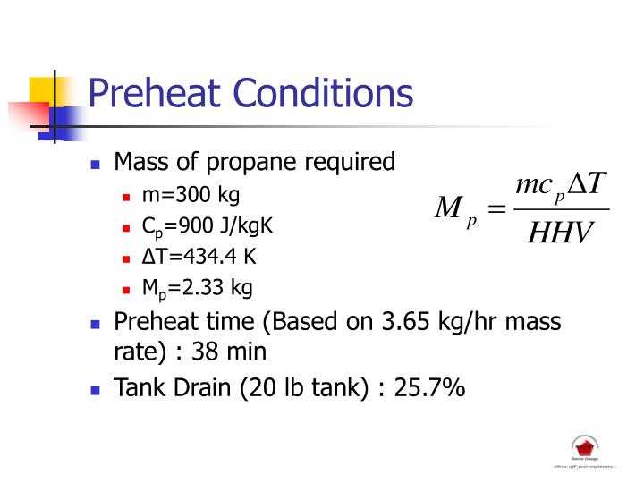 Preheat Conditions
