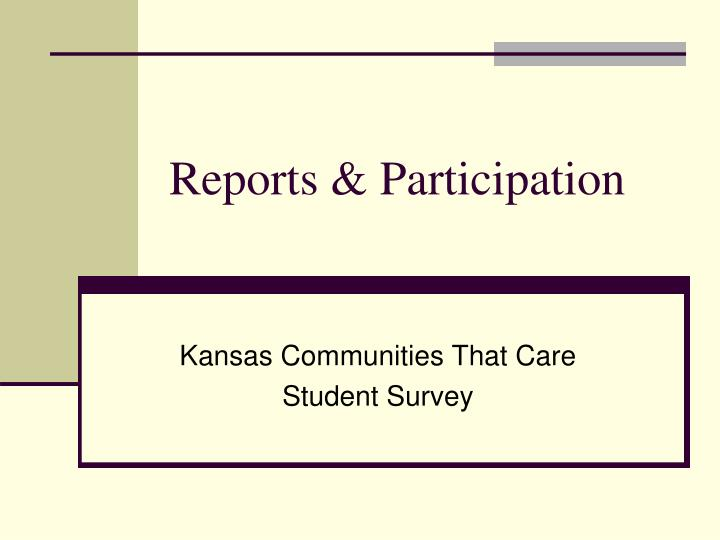 reports participation n.