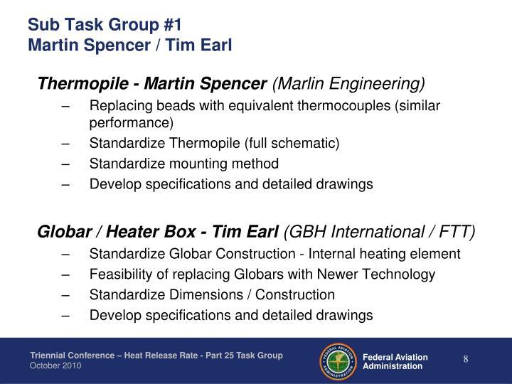 Sub Task Group #1
