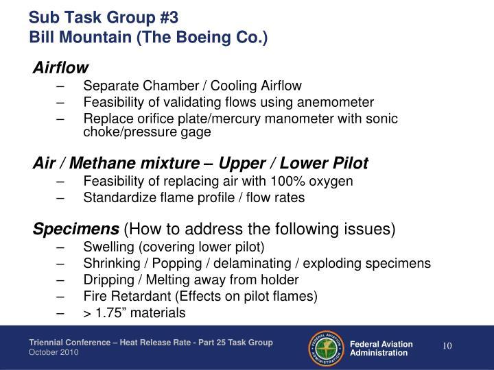 Sub Task Group #3
