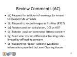 review comments ac