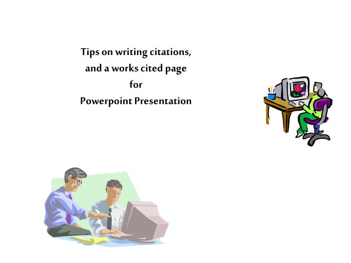 tips for writing powerpoint presentations Tips for effective powerpoint presentations fonts select a single sans-serif fonts such as arial or helvetica avoid serif fonts such as times new roman or palatino.