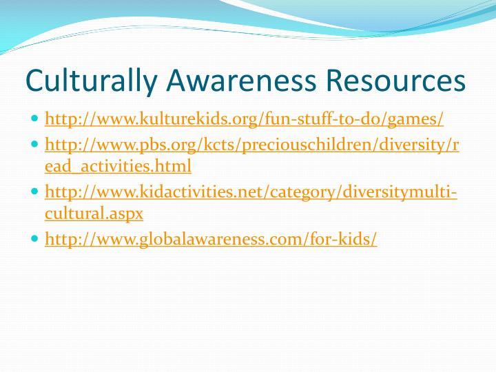 Culturally Awareness Resources