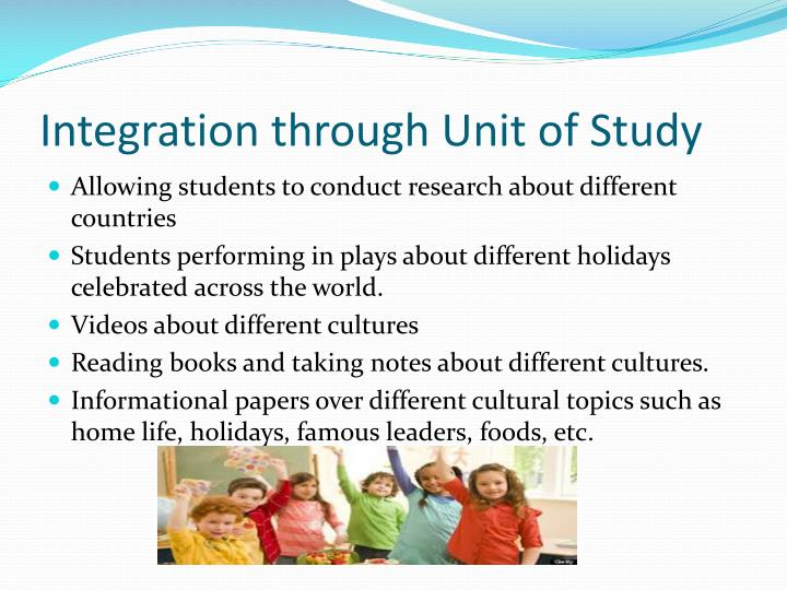 Integration through Unit of Study