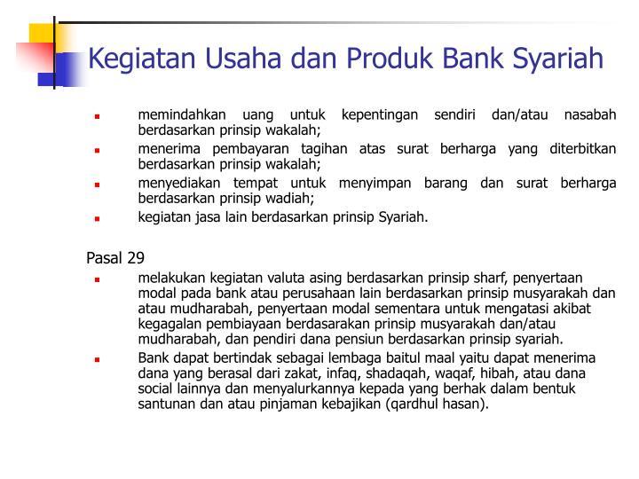 kegiatan operasional bank syariah Filsafatoperasional perbankan syariah, sistem kelembagaan bank syariah, ciri-ciri dan landasan operasional bank syariah, dan kegiatan operasional bank pembahasan.
