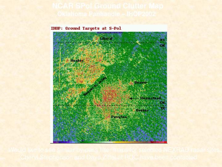 NCAR SPol Ground Clutter Map