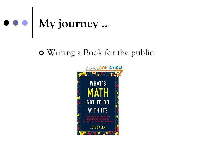 My journey ..