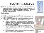 indicator 4 activities