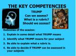 the key competencies