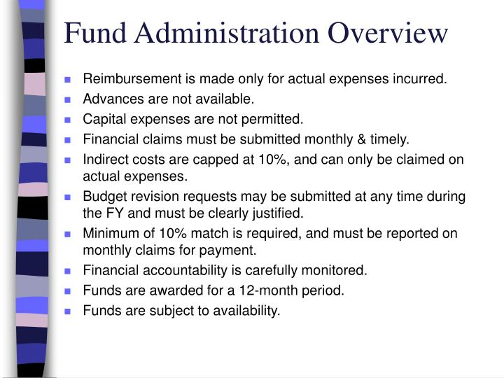 Fund Administration Overview