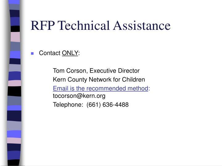RFP Technical Assistance