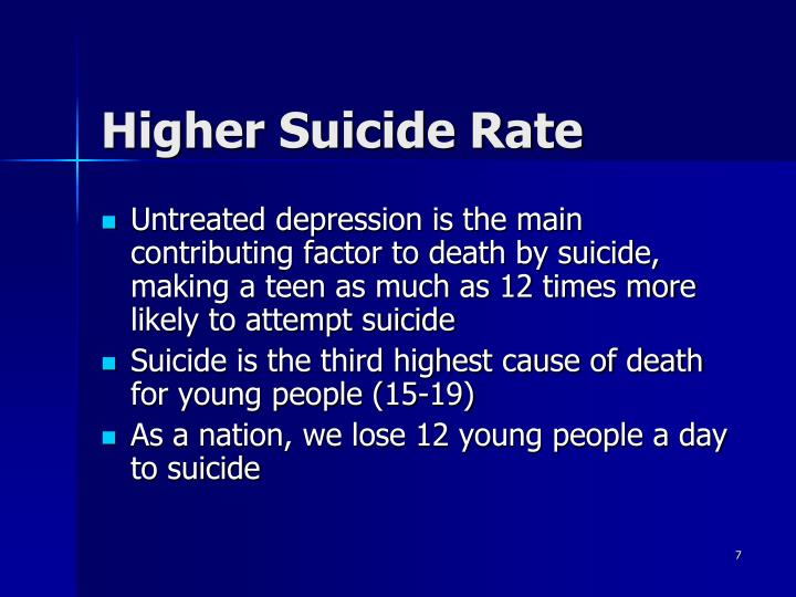 the major factors causing teenage depression and suicide Researchers identify a spike in major depression among teens since 2005 of openness to suicide and and household factors and concluded that they.