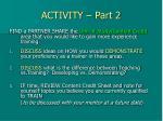 activity part 2