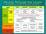 moving through the levels recommended changes to academy guidelines