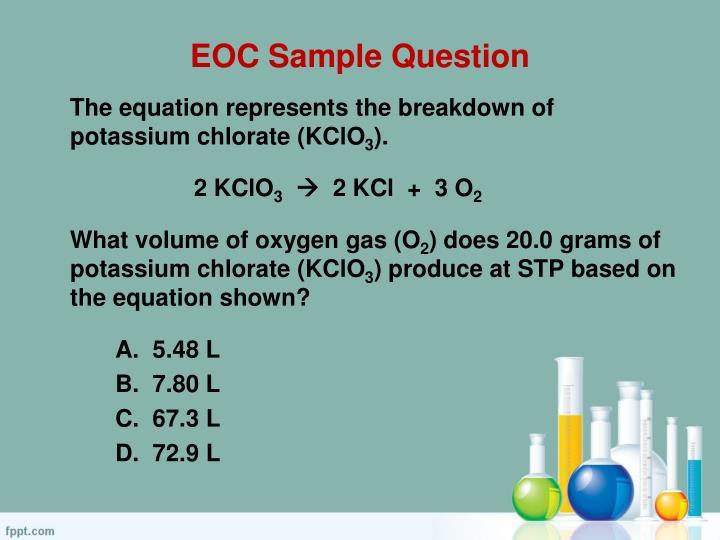 EOC Sample Question
