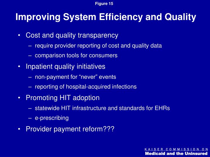Improving System Efficiency and Quality