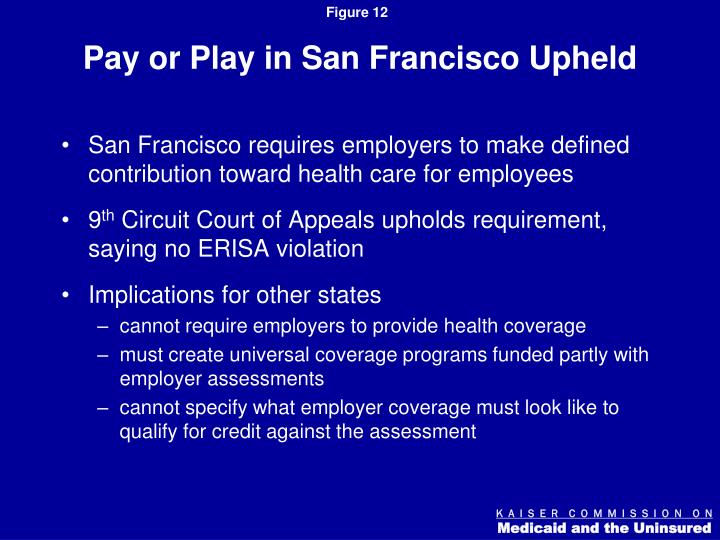 Pay or Play in San Francisco Upheld