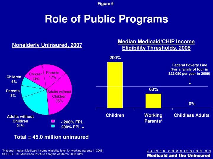 Role of Public Programs