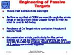 engineering of passive targets