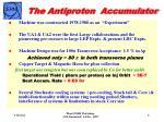 the antiproton accumulator