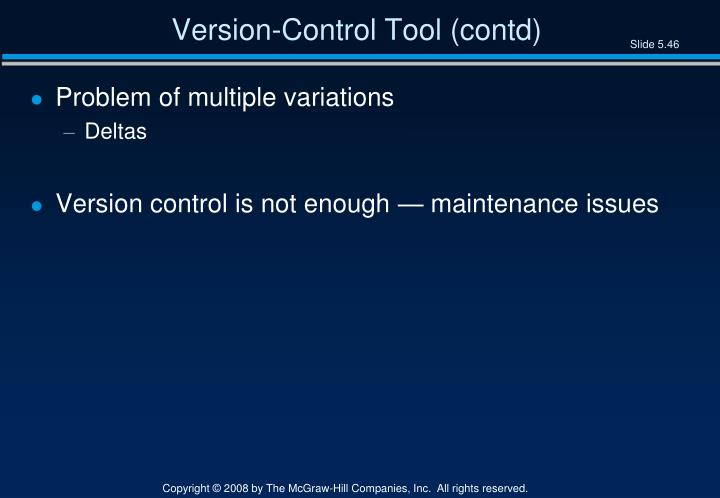 Version-Control Tool (contd)