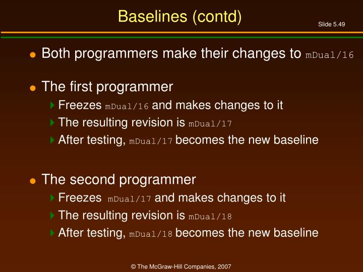 Baselines (contd)
