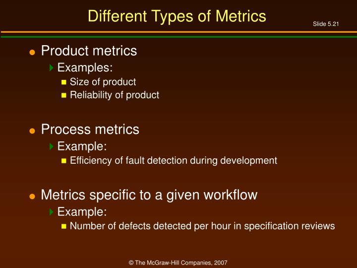 Different Types of Metrics