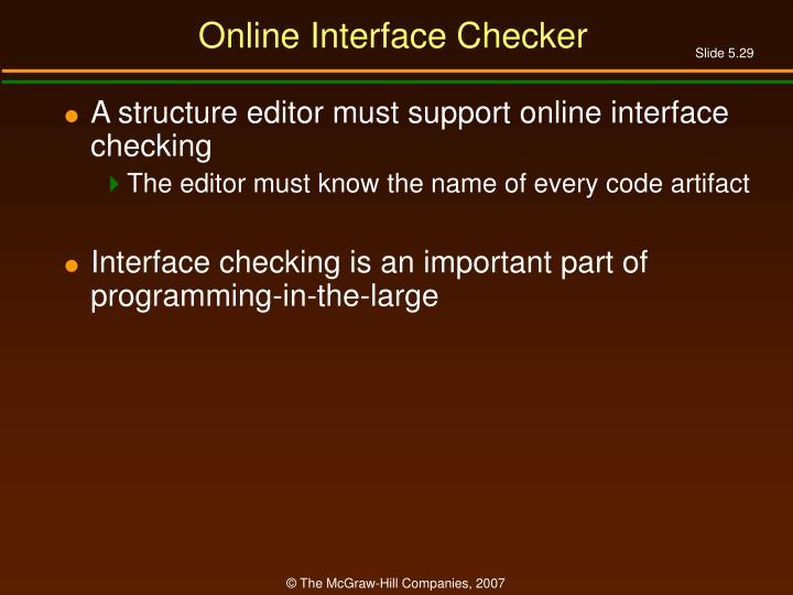 Online Interface Checker