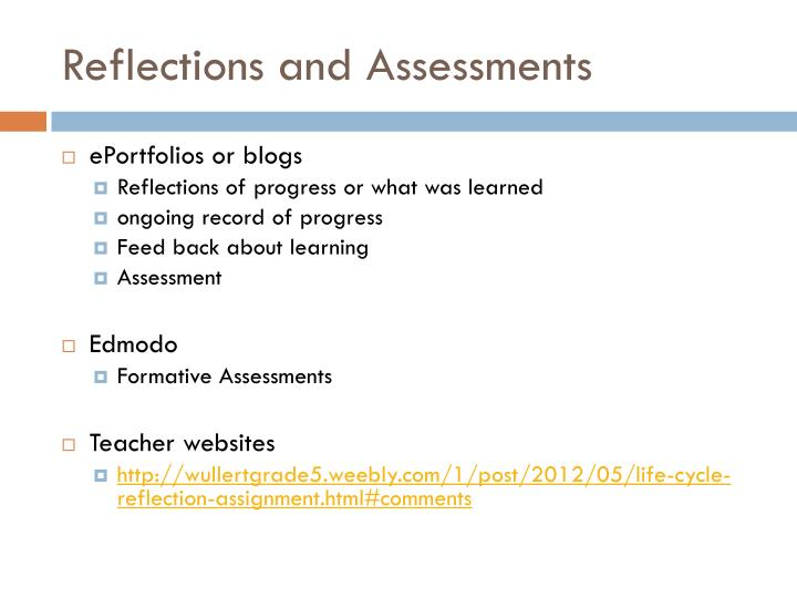 Reflections and Assessments