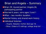 brian and angela summary
