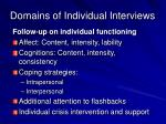 domains of individual interviews1