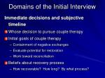 domains of the initial interview2