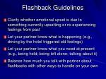 flashback guidelines